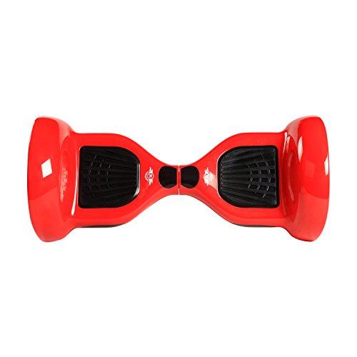 Megawheels Hoverboard 10 Pollici Scooter Elettrico -LED- 700W con Certificazione UL 2272 Monopattino Elettrico Bluetooth Borsa Inclusa (Rosso)