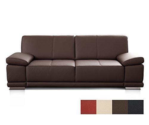3-Sitzer Sofa Corianne Echtledercouch