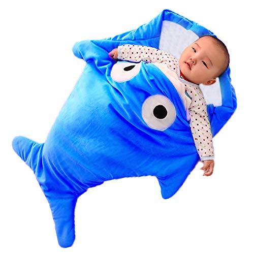 Scheppend neonati bambini squalo soffice sacco a pelo per passeggino,92x62cm (blu)