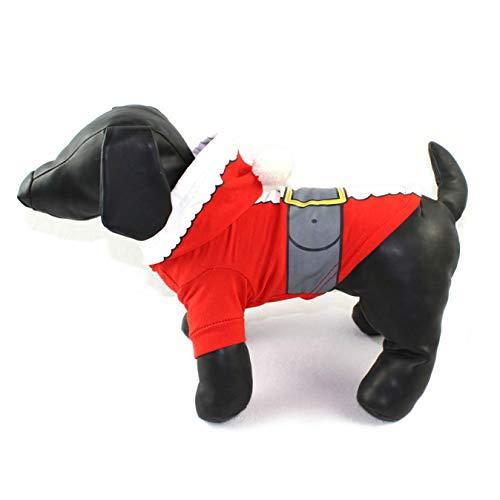 zhengao Upgraded Version Lieblich Weihnachten Hund Kleidung Baumwolle T-Shirt Welpe Kostüm für Camping, Picknick und Weitere Outdoor Aktivitäten - Groß Rot L, - Anspruchsvolle Katze Kostüm