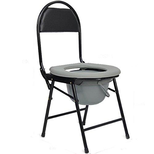CUI XIA UK Toilet Stuhl Badesessel WC-Sitz klappbar Schwangere Frauen Alter Mann Töpfchenstuhl Stabiler wasserdichter Edelstahl (Töpfchen Stuhl Griffe)