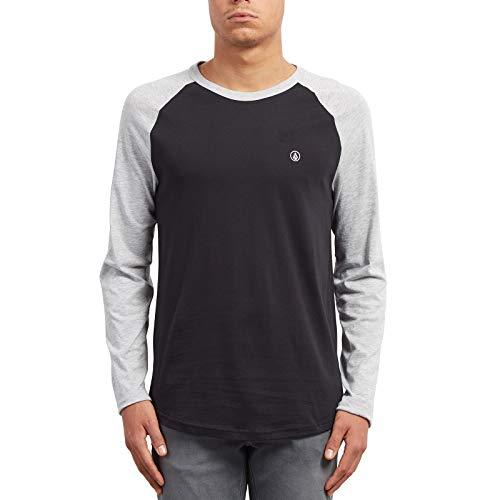 Volcom Herren Pen BSC Longsleeve, Heather Grey, L Volcom-print-sweatshirt