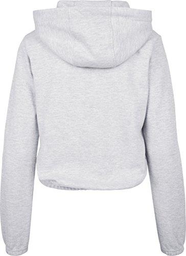 Urban Classics Damen Kapuzenpullover Ladies Interlock Short Hoody Grey