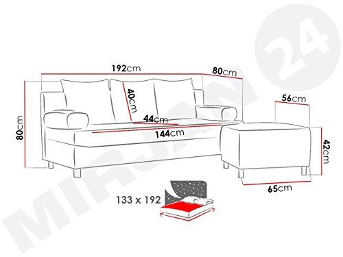 Ecksofa Couch –  günstig Schlafsofa Dover Sofa Bild 4*