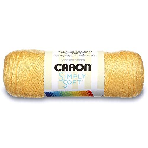 Caron Pelote de laine douce, 170 g/Pelote de 28 m, 6 oz, Jaune (Sunshine)