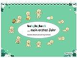 babylogbuch - mein erstes Jahr - mint green - inkl. Aufkleberset - Baby-Kalender/Baby-Tagebuch - Geschenk