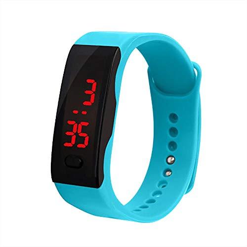 Altsommer Jungs Mädchen LED Digital Wasserdicht Sportuhr mit 12 Stunden System, Armbanduhr mit Datum und EIN-Tasten-Bedienung Uhr,Kinder Watch für Kinder Guten Geschenken (Hellblau)