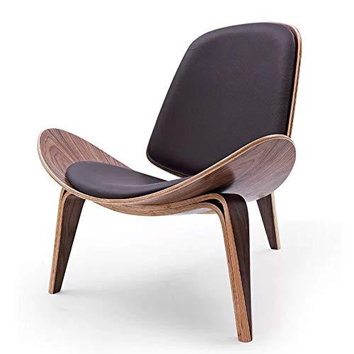 L.BAN Draussen Einfach Designer Stuhl Nordischer Stuhl Innen Einzelsofastuhl Shell Chair Zuhause Lounge-Sessel