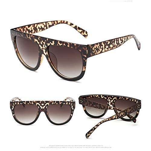 WWVAVA Sonnenbrillen Big Frame Leopard Sonnenbrille Damen/Herren Candy Lens Damen Sonnenbrille Classic Retro Outdoor, c8