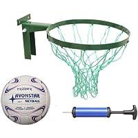 Avonstar - Juego de netball (balón y canasta de pared, inflador de balones incluido)