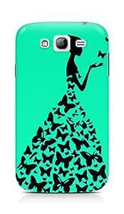 AMEZ designer printed 3d premium high quality back case cover for Samsung Galaxy Grand (greenish blue princess)