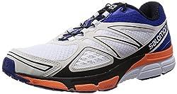 Salomon X-scream 3d, Men's Running Shoes, Weiß (Whiteg Bluefluo Orange), 6.5 Uk (40 Eu)