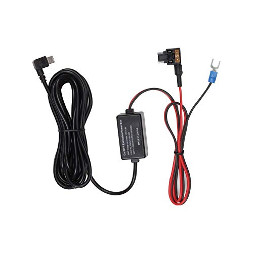 Auto-Vox 2A Car Camera Hardwire kit 12V-5A Compatible with X1/X2/A1/M8/V1/A118/M6/N2/G1W GPS Navigator Radar Detector and All Other Low-Profile Mini USB Port Devices