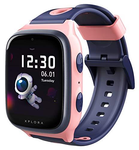 Oferta de XPLORA 4 - Teléfono Reloj 4G para niños (SIM no incluida) - Llamadas, Mensajes, Modo Colegio, SOS, GPS, cámara y podómetro - Incluye 2 años de garantía (Rosa)