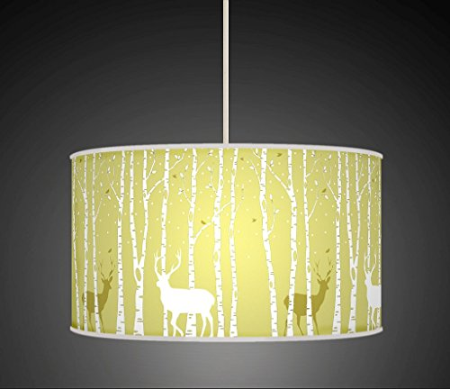 stag-deer-trees-handmade-lampshade-printed-fabric-pendant-light-light-green-colour-679