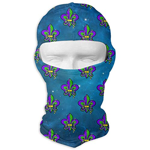 i Gras Heart Fluer De Lis Balaclava UV Protection Windproof Ski Face Masks Cycling Outdoor Sports Full Face Mask Breathable ()