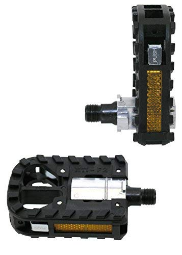 Eigenmarke Fahrrad Pedale Faltpedale Set Alu Klapppedale mit CrMo-Achse hochwertig nach STVO