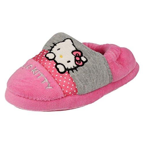 Ragazze Hello Kitty Full Pantofole persiano, rosa (Pink), 28 EU