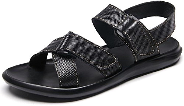 Sandalias De Cuero para Hombre Zapatillas De Senderismo Al Aire Libre Verano Deportes Chanclas Calzado Sandalias
