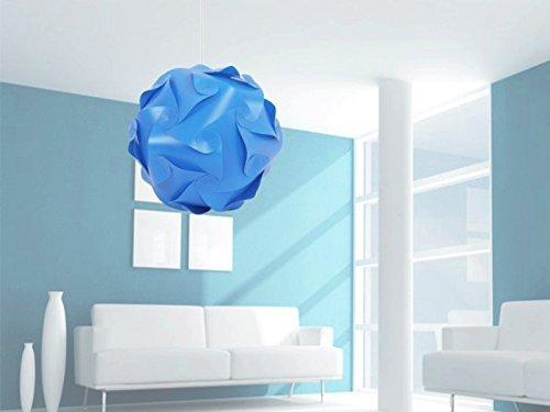 Soleil Glower innovante DIY 25 cm Abat-Jour IQ Puzzle Abat-Jour, PP, Bleu, 25 cm