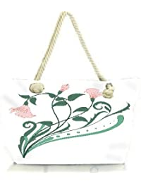 Snoogg Creative Vintage Flourish Women Anchor Messenger Handbag Shoulder Bag Lady Tote Beach Bags Blue