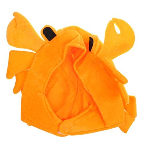 MagiDeal Krabbe Hut Krebs Tier Mütze für Kostüm Karneval Halloween Fasching