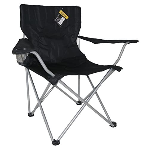 Marko Outdoor Camping Chair Fishing Garden Folding Foldable Seat Portable Lightweight (Black)