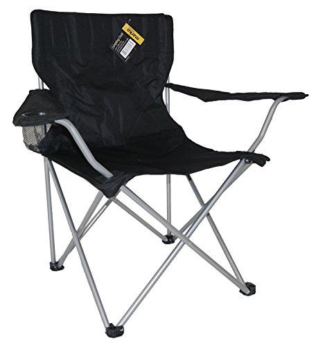 Marko Outdoor Camping Chair Fishing Garden Folding Foldable Seat Portable Lightweight (Black)