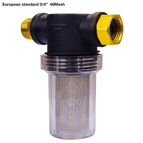 star-all star Schmutzfänger, Wasserfilter für Hochdruckreiniger Pumpeneinlass Vorfilter Schlauchanschluss Gartenzubehör