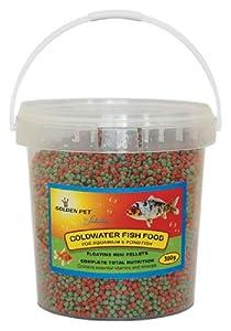Mini Floating Fish Food Pellets Koi Goldfish Pond Aquarium 380g Tub 9515 by Fadulla