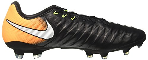Nike Tiempo Legacy Iii Fg, Chaussures de Football Homme Noir (Black/white-laser Orange-volt)