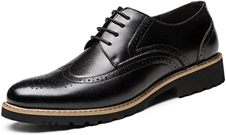 Bullock moda scarpe da uomo uomini uomini uomini scarpe di cuoio inciso bullock lo stile britannico,nero,trentotto   Facile Da Pulire Surface    Uomo/Donna Scarpa  8b8003