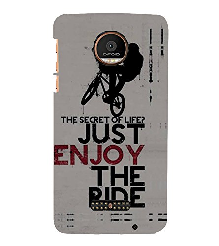 Fiobs Designer Phone Back Case Cover Motorola Moto Z Force :: Motorola Moto Z Force Droid for USA ( Stunt Rider Bike Cycle Racer )  available at amazon for Rs.397