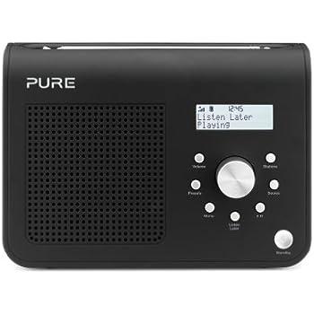 Pure One Classic Series 2 Digital DAB/FM Radio with live radio record and playback – Black