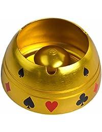 LOSTRYY Oro Plata Metal Poker Flor cenicero Semi-Circular cenicero hogar Sala de Humo Copa