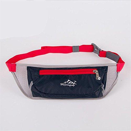 Wmshpeds Maratona di fitness borsa in esecuzione per esterno multi-funzione musica sport mobile cinghia con foro per auricolari A