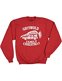 Christmas Vacation Griswold Family Vacation Red Adult CREWNECK SWEATSHIRT