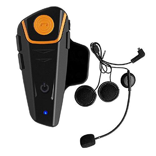 Bluetooth Motorrad Intercom Helm Communicator Headset 800m Wasserdichtes Gegensprechanlage Interphone Headset für 2 oder 3 Fahrer für Walkie Talkie MP3 Player GPS Freisprecheinrichtung FM Radio (1 Set) Headset Für Fahrer