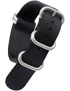21mm schwarz Luxus-Militär strapazierfähiges Nylon NATO-Stil Uhrenarmbänder Bänder Ersatz für Männer