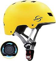 UniqueFit Casco para niños y Adultos Casco Protector Ajustable para patineta, Ciclismo, patín, Casco Certifica
