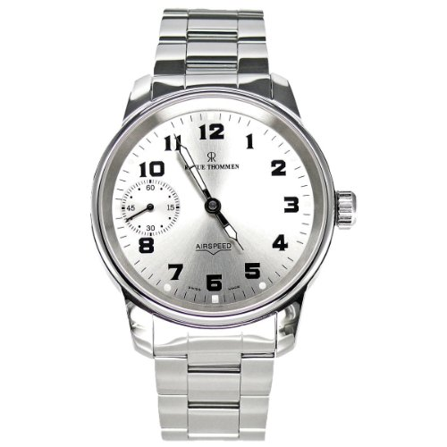 Revue Thommen Men's Mechanical Watch with Silver Dial Analogue Display and Silver Stainless Steel Plated Bracelet 16702.3182
