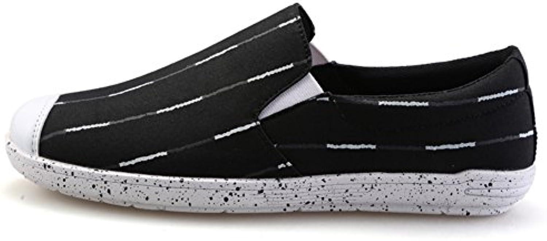 Sommer Spray Gestreifte Leinwand Herrenschuhe/Casual Fuß atmungsaktive Schuhe/Aktuelle trug Schuhe