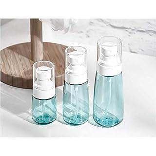 SPRAY Flaschen feinen Nebel Glas transparent Mist TRAVEL Flasche für Make-up Lotion Replenishment Spray Flasche, Kosmetik Toilettenartikel Liquid Container Set von 5, Glas, weiß, Set of 3