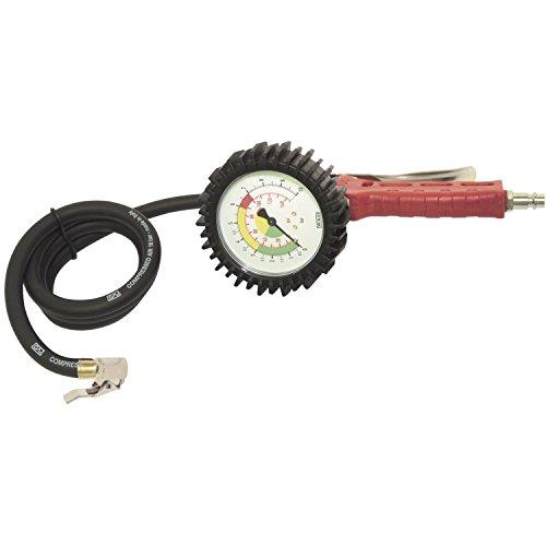 Elmag 60 GE main gonfleur de pneu avec double connecteur jauge de pression et précision 0–10 Bar, 42051