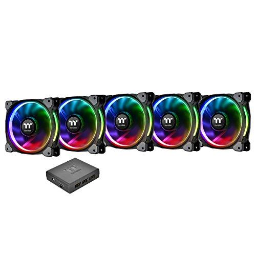 Thermaltake CL-F057-PL14SW-A Riing Plus 14 Gehäuselüfter TT Premium Edition 5 Pack mit Software RGB -