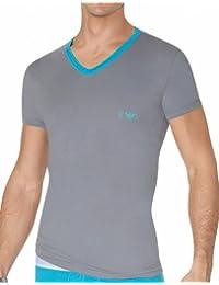Emporio Armani T-Shirt Big Eagle Stretch Cotton Marine
