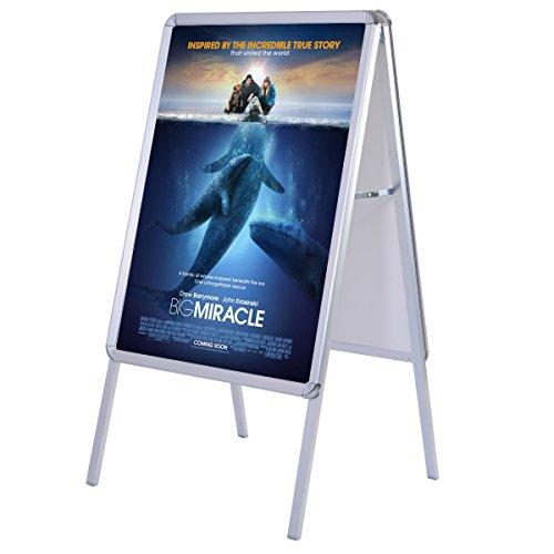COSTWAY A1 Kundenstopper Plakatständer Werbetafel Gehwegaufsteller Werbeträger klappbar Alu