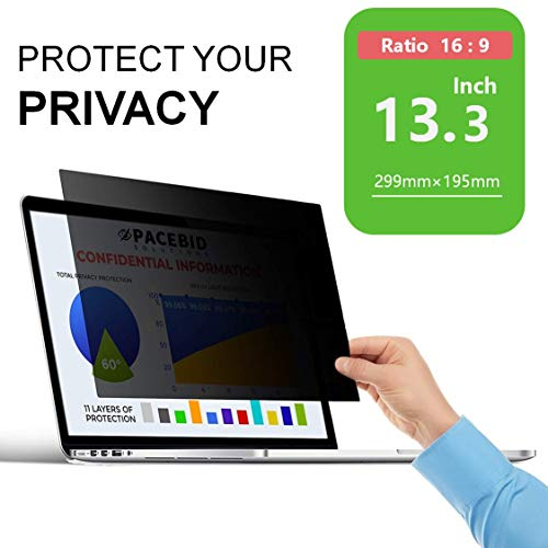 PaceBid Privacy Filtro/Privacy Screen Filter/Schermo per la Privacy per Notebook Pellicola de Protezione per Laptop e Computer Portatile 295 x 167