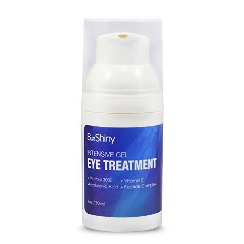 BeShiny Augencreme Luxurioeses Augengel gegen muede Augen, Augenringe und Falten Hyaluronsäure...