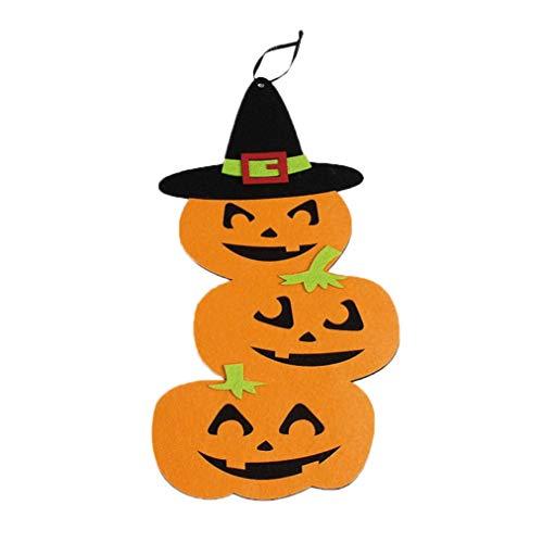 (ZahuihuiM Kreatives Nettes Halloween-Kürbis-Hängen verzieren Hauptparty-Atmosphäre Halloween Lustiger Vampir Horror Zombie Hexe Teufel Ausstattung Braut deko kostüm für Partei (Freie Größe, B))